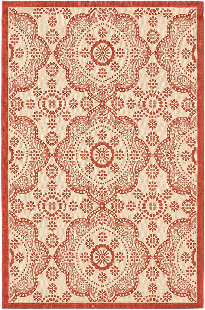 Carpette, 3 pi 3 po x 4 pi 9 po, rectangulaire, rouge Ankara