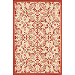 ECARPETGALLERY Ankara Red 3 ft. 3-inch x 4 ft. 9-inch Rectangular Area Rug