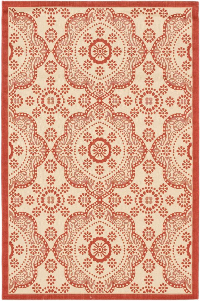 ECARPETGALLERY Ankara Red 3 ft. 3-inch x 4 ft. 9-inch Rectangular Area Rug