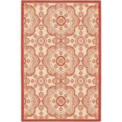 ECARPETGALLERY Carpette, 3 pi 3 po x 4 pi 9 po, rectangulaire, rouge Ankara