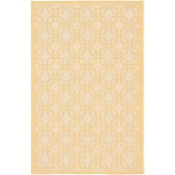 ECARPETGALLERY Ankara Off-White 3 ft. 3-inch x 4 ft. 9-inch Rectangular Area Rug