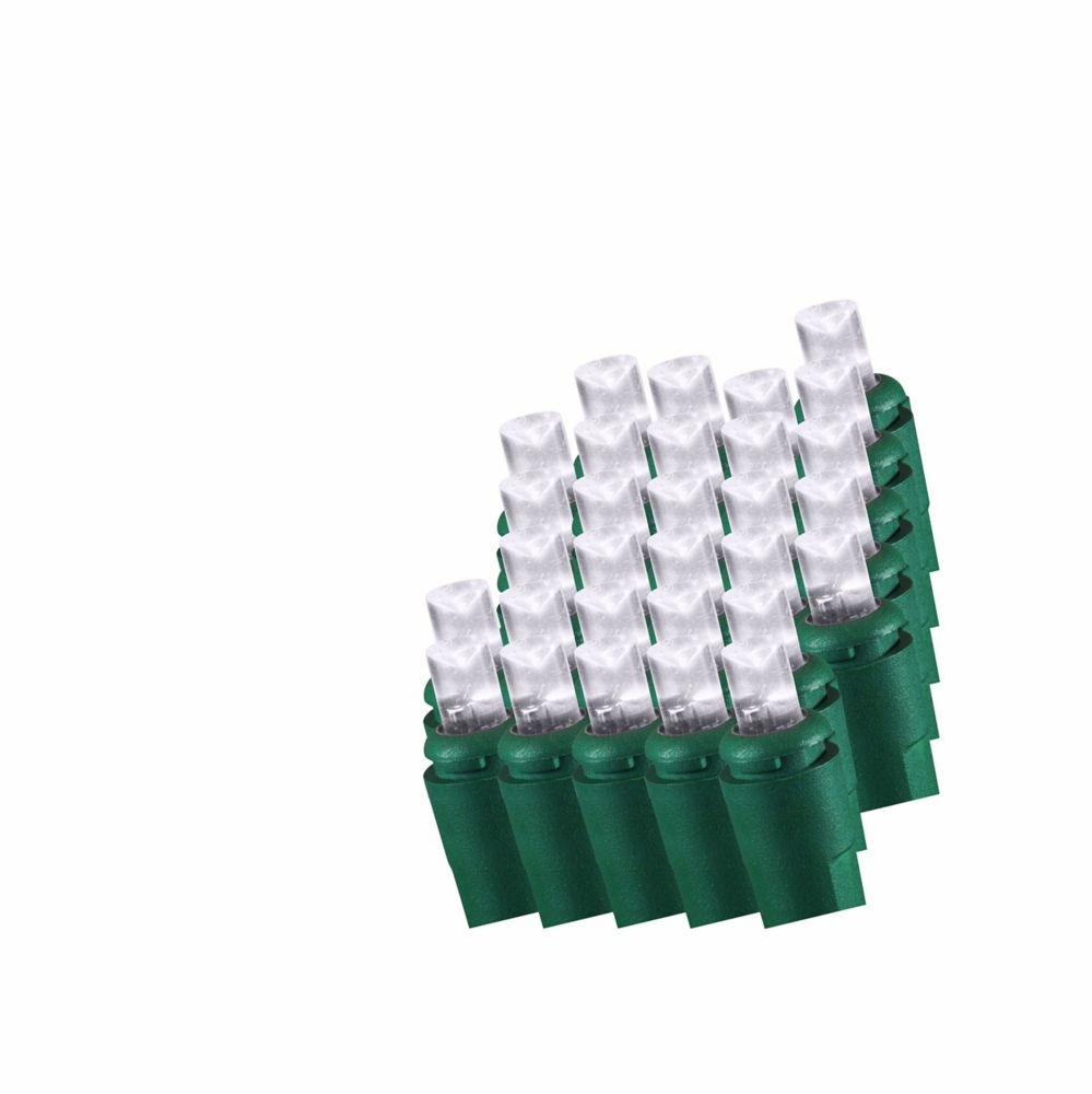 50 DEL Ampoules en dôme scintillantes BLANC PUR