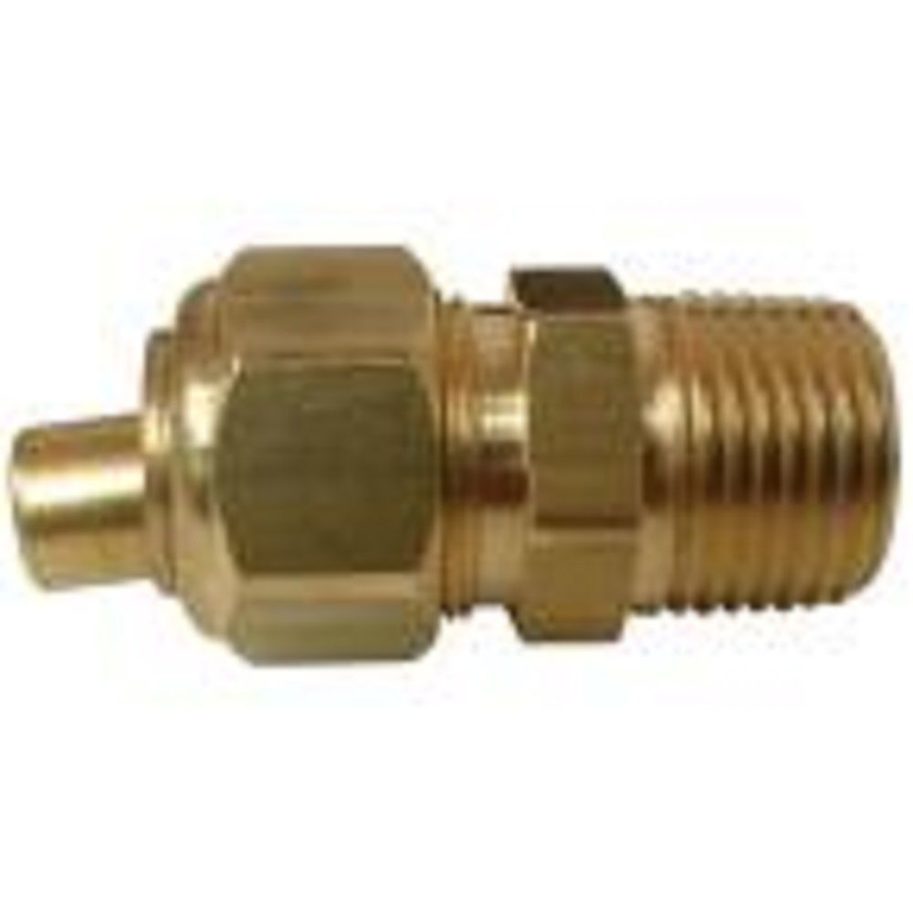 Sioux Chief 1/2 inch x 1/2 inch Lead-Free Brass Compression x MIP Adapter with Insert