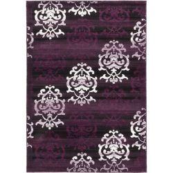 ECARPETGALLERY Carpette, 5 pi 3 po x 7 pi 7 po, rectangulaire, noir Crown