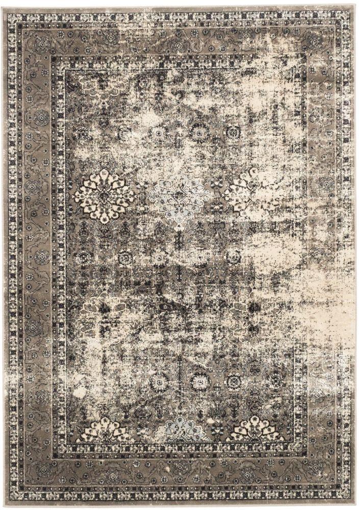 ECARPETGALLERY Frost Grey 5 ft. 3-inch x 7 ft. 3-inch Rectangular Area Rug