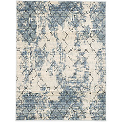 ECARPETGALLERY Impressions Blue 5 ft. 3-inch x 7 ft. 3-inch Rectangular Area Rug