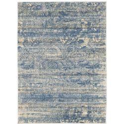 ECARPETGALLERY Carpette, 5 pi 3 po x 7 pi 3 po, rectangulaire, bleu Impressions
