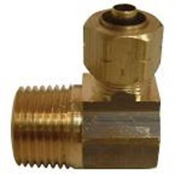 Sioux Chief 3/8 inch x 1/2 inch Lead-Free Brass 90-Degree Compression x MPT Elbow