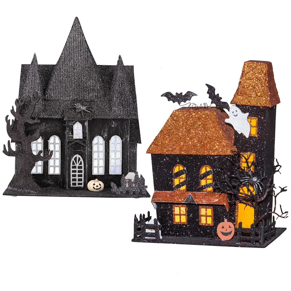 Lighted Spooky House Assortment 2 Styles