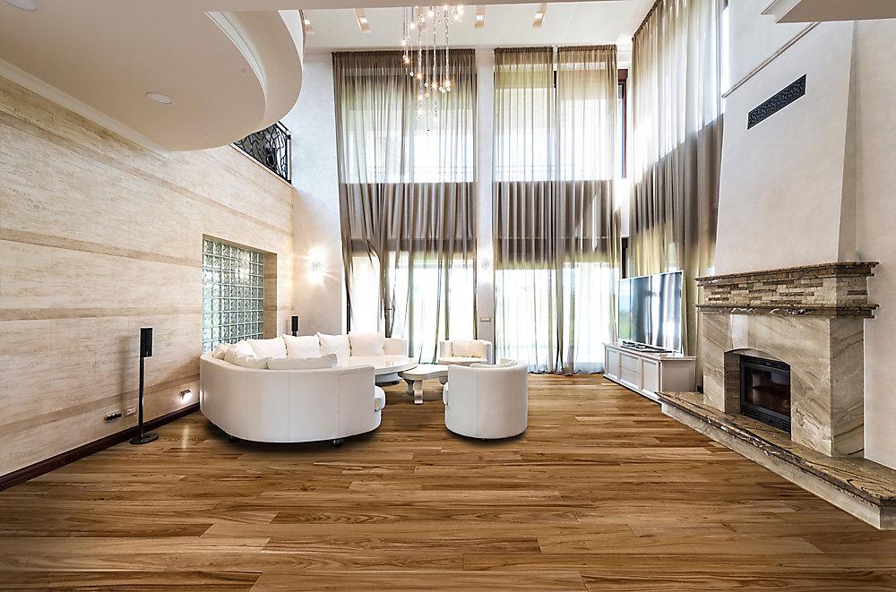 Home decorators collection plancher encliquetable bois dingéniérie 6 1 2 po de largeur acacia gordon 1705 pi2 boîte
