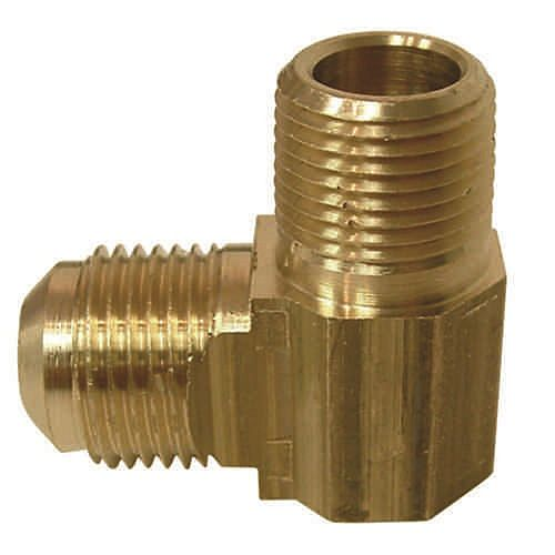 Sioux Chief 1/2 inch x 1/2 inch Lead-Free Brass 90-Degree Flare x MIP Elbow