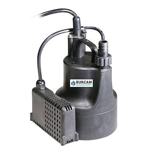 BURCAM 1/6 HP automatic submersible utility pump