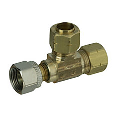3/8 inch x 3/8 inch x 1/4 inch Lead-Free Brass Compression Adapt-A-Valve