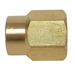 Sioux Chief Coupling 1 inch Female Fitting X 3/4 inch Female Fitting Red Brass No Lead 1/Bg