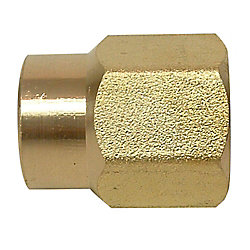 Sioux Chief Coupling 1 inch Female Fitting X 1 inch Female Fitting Red Brass No Lead 1/Bg