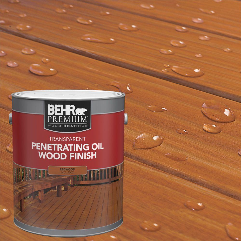 Fini d'huile pénétrant et transparent pour bois - Séquoia, 3,79 L
