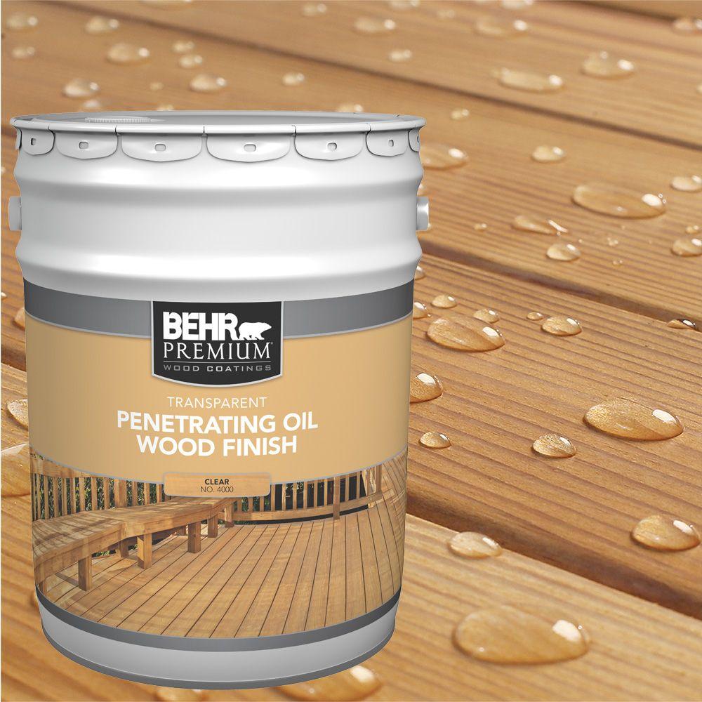 Behr Behr Premium Transparent Weatherproofing Wood Finish Natural 916 Ml The Home Depot Canada