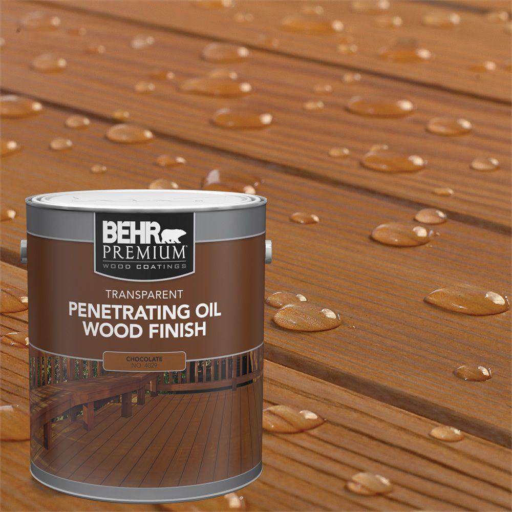 Fini d'huile pénétrant et transparent pour bois - Chocolat, 3,79 L