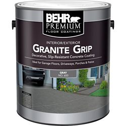 Behr Premium Granite Grip 3.79L Interior/Exterior Concrete Floor Paint in Grey