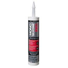 Silicone PRO Premium Silicone Rubber Kitchen, Bath & Plumbing Sealant - Clear - 290ml