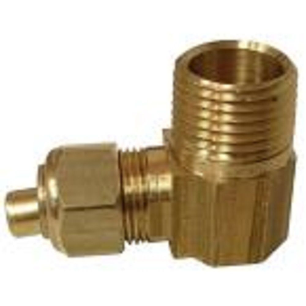 Sioux Chief 1/2 inch x 1/2 inch Lead-Free Brass 90-Degree Compression x MPT Elbow