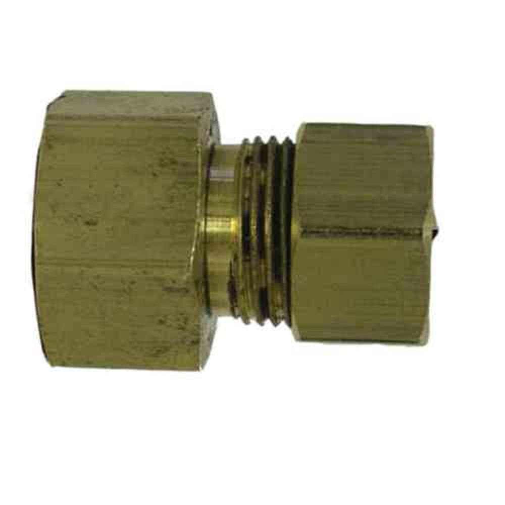 Sioux Chief 1/2 inch x 3/8 inch Brass Female Compression x Compression Adapter