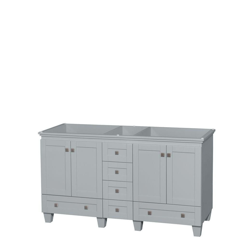 Acclaim 60-Inch  Double Vanity Cabinet in Oyster Grey