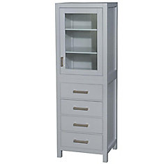 Sheffield 24-inch W x 71-1/4-inch H x 20-inch D Bathroom Linen Storage Tower Cabinet in Grey