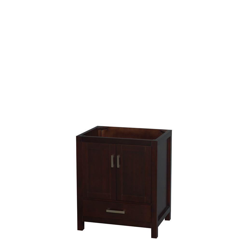 Wyndham Collection Sheffield 30-Inch  Vanity Cabinet in Espresso