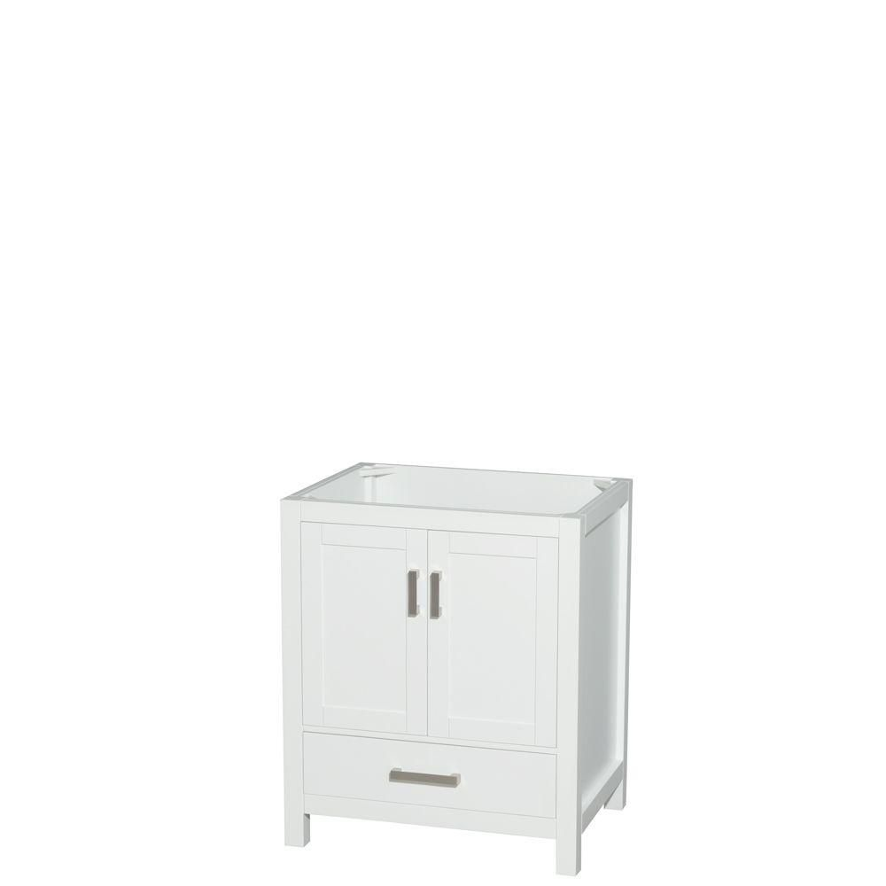 Wyndham Collection Sheffield 30-Inch  Vanity Cabinet in White