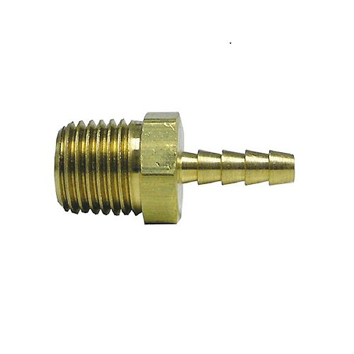 Sioux Chief Adapter 3/8 inch Barb X 1/2 inch Male Fitting Brass No Lead 1/Bg
