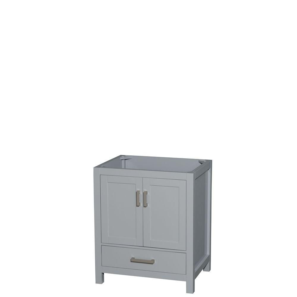 Wyndham Collection Sheffield 30-Inch  Vanity Cabinet in Grey