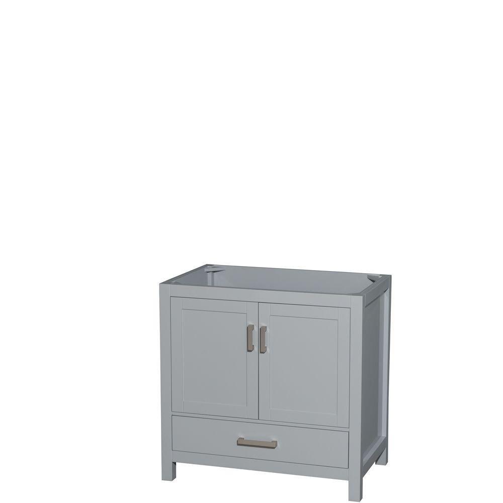 Sheffield 36-Inch  Vanity Cabinet in Grey