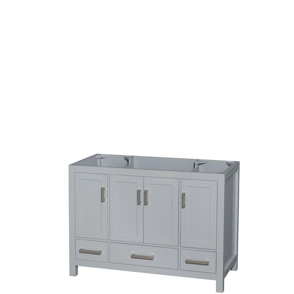 Sheffield 48-Inch  Vanity Cabinet in Grey