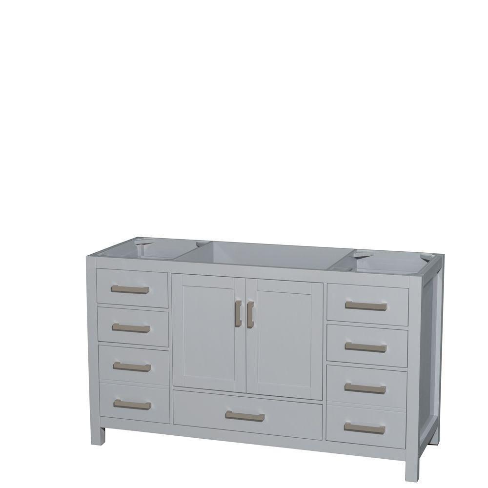 Sheffield 60-Inch  Vanity Cabinet in Grey