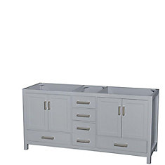 Sheffield 72-Inch  Double Vanity Cabinet in Grey