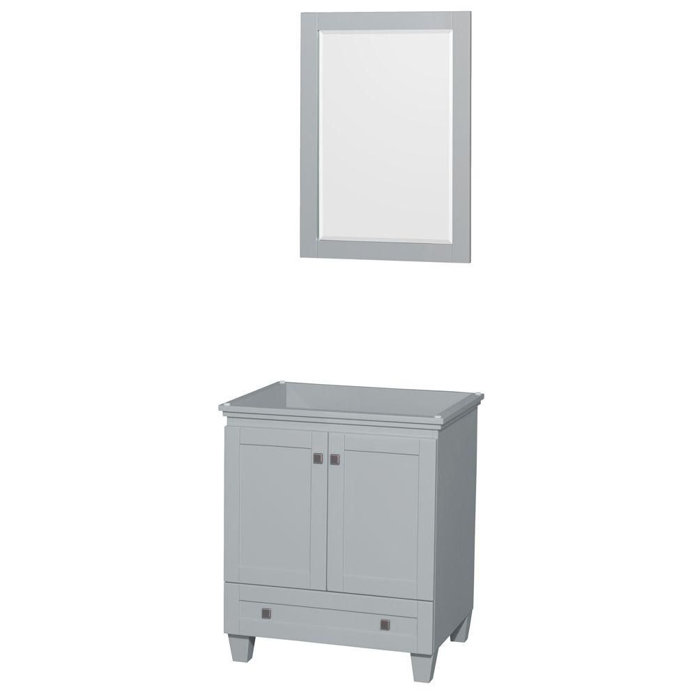 Acclaim 30-Inch  Vanity Cabinet with Mirror in Oyster Grey
