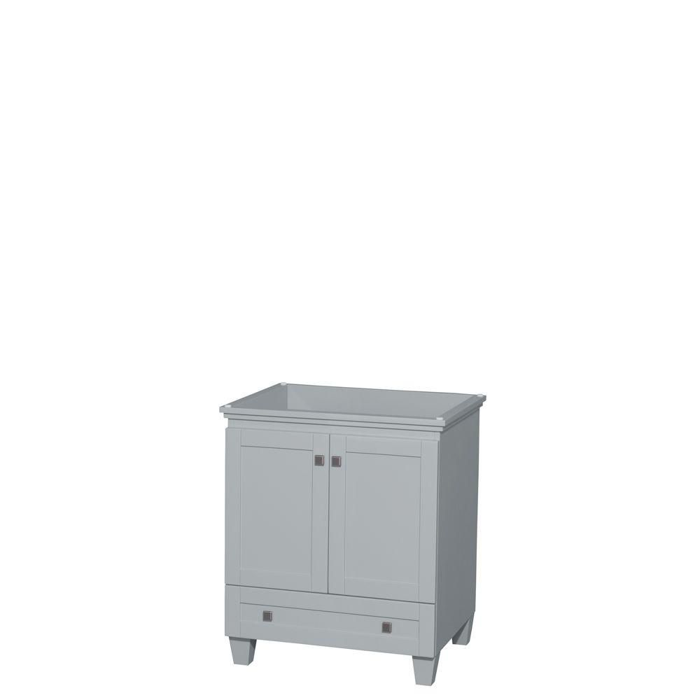 Wyndham Collection Acclaim 30-Inch  Vanity Cabinet in Oyster Grey