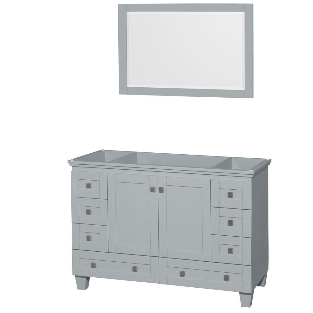 Acclaim 48-Inch  Vanity Cabinet with Mirror in Oyster Grey