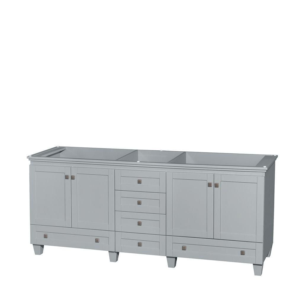 Wyndham Collection Acclaim 80-Inch  Double Vanity Cabinet in Oyster Grey