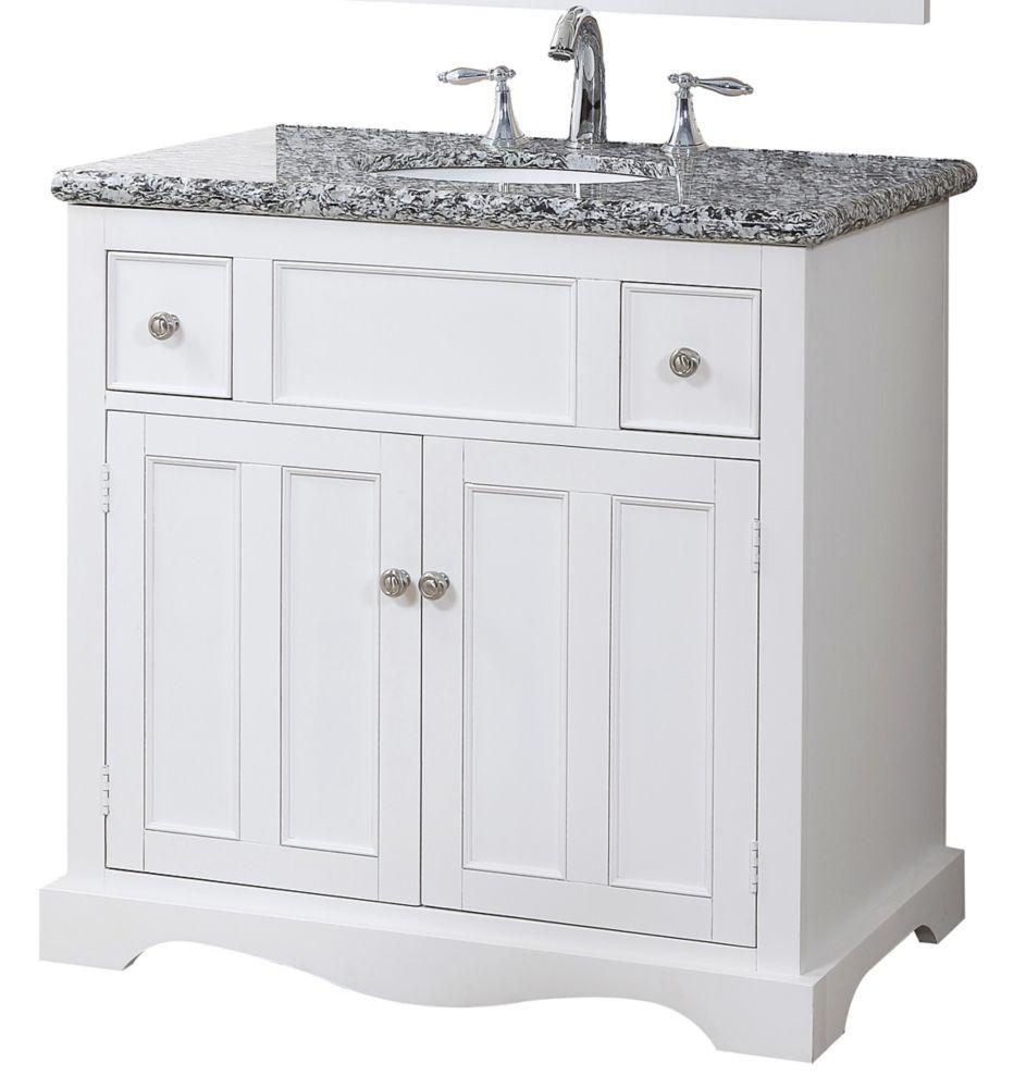Morton Vanity Base with Granite Top and Sink