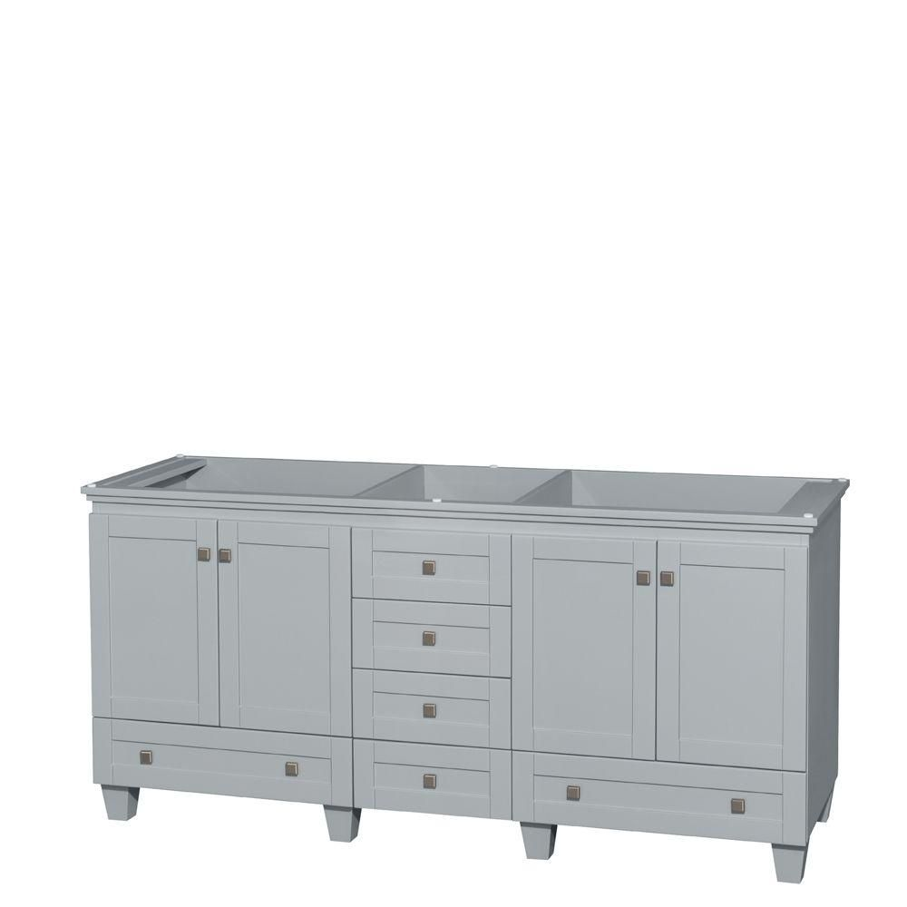 Wyndham Collection Acclaim 72-Inch Double Vanity Cabinet in Oyster Grey