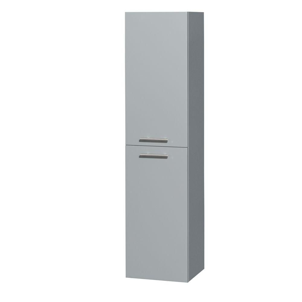 Amare Wall-Mounted Bathroom Storage Cabinet in Dove Gray (Two-Door)