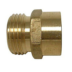 Sioux Chief Adapter 3/4 inch Male Hose Thread X 1/2 inch Female Fitting Brass No Lead 1/Bg