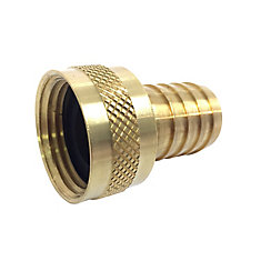 3/4 inch FHT Adapter X 1/2 inch Barb Brass Machined Lead-Free