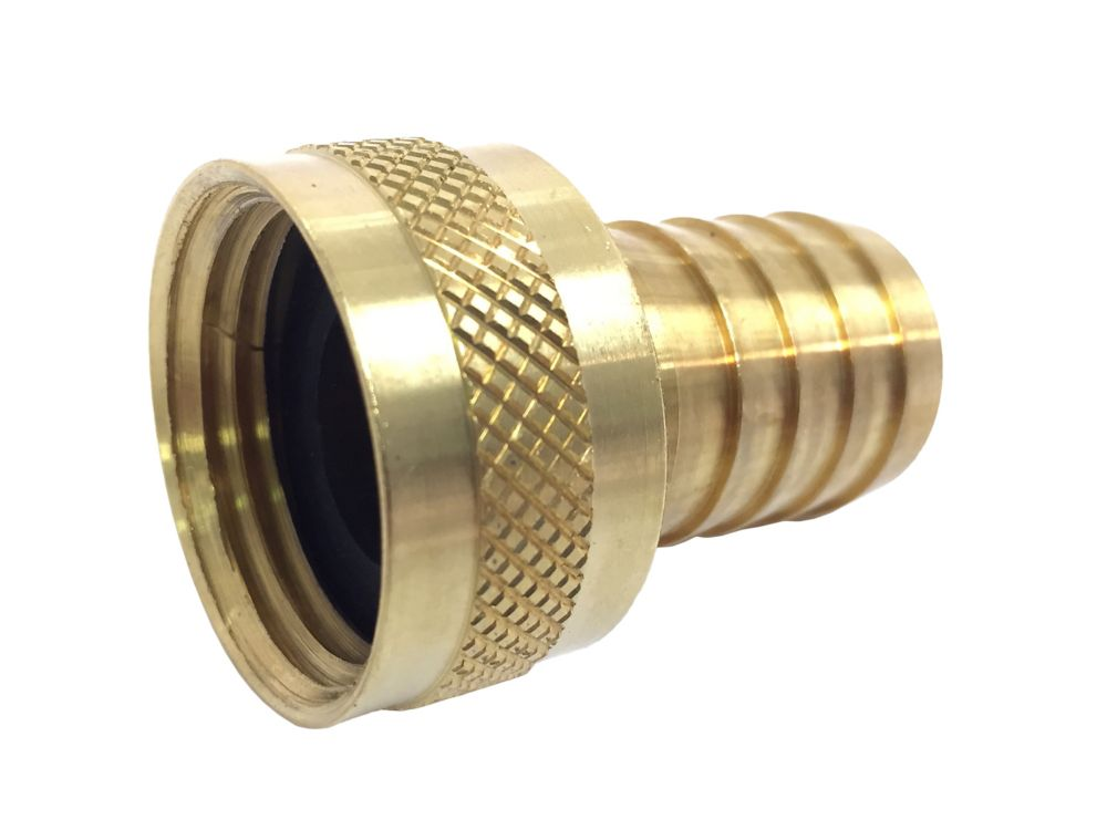 Sioux Chief 3/4 inch FHT Adapter X 1/2 inch Barb Brass Machined Lead-Free