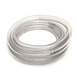 CANADA TUBING Clear Vinyl Tubing, 5/8 inch Inside Diameter X 7/8 inch Outside Diameter X 10 ft Coil