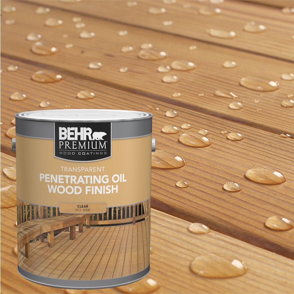 Behr Premium Clear Penetrating Oil Wood Finish, 3.8 L