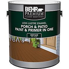 Porch & Patio Paint &Primer In One, Low Lustre Enamel - Deep Base, 3.7 L