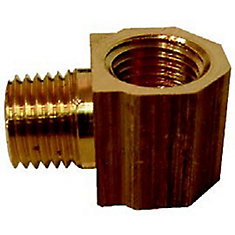 1/4 inch x 1/4 inch Lead-Free Brass 90-Degree MPT x FPT Street Elbow